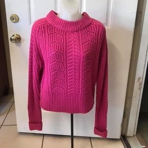 NWT Small poof Hot Pink long sleeve sweater